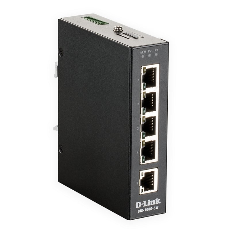 D-Link DIS-100G-5W Switch Industrial 5xGB