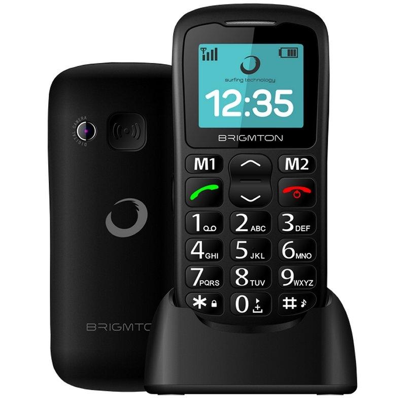 """Brigmton BTM11 Telefono Movil 1.7"""" SOS BT + Dock"""