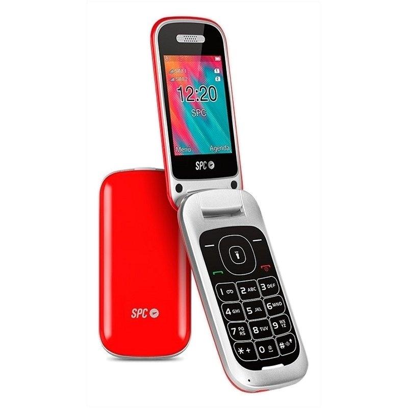 SPC 2319R Velvet Telefono Movil BT FM Rojo
