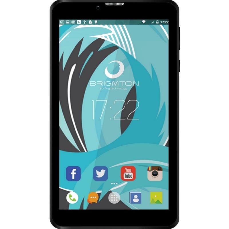 "Brigmton Tablet 7"" HD IPS 3G BTPC-PH6 QC DSIM Negr"