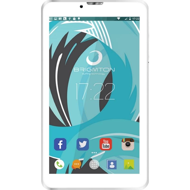 """Brigmton Tablet 7"""" HD IPS 3G BTPC-PH6 QC DSIM Blan"""