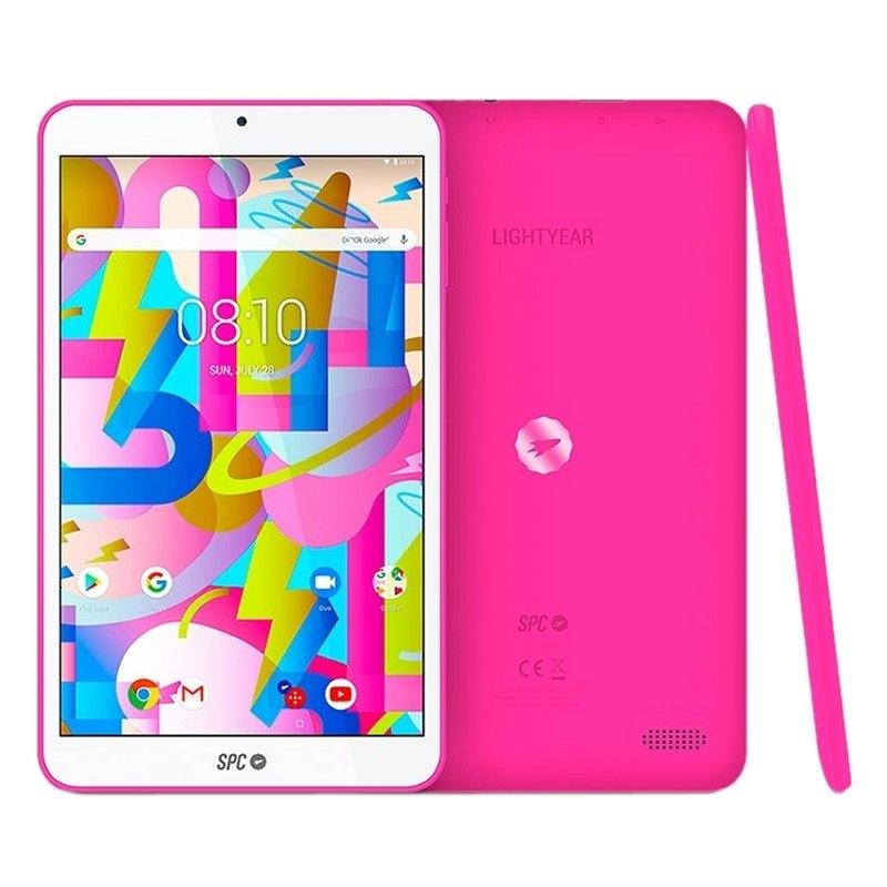 """SPC Tablet  8"""" IPS HD QC 2GB RAM 16GB Interna Rosa"""