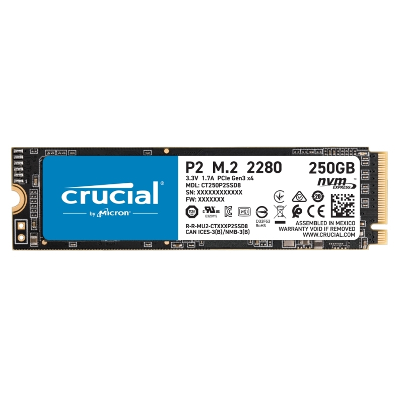 Crucial CT250P2SSD8 P2 SSD 250GB M.2  NVMe PCIe