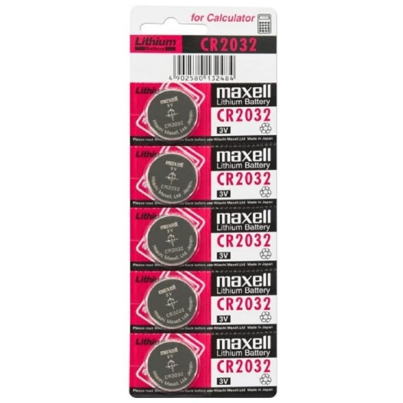 Maxell CR2032 Pila botón 3V Lítio Pack 5 Unidades