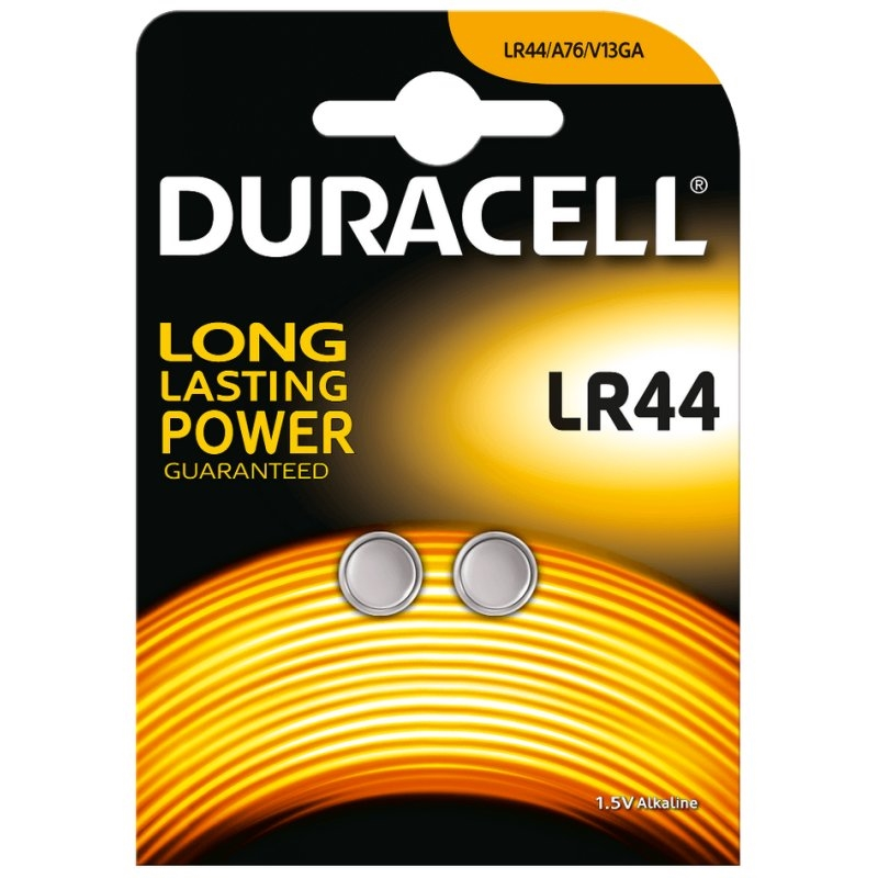 Duracell Pila Botón Alcalina LR44 1,5V Blister*2