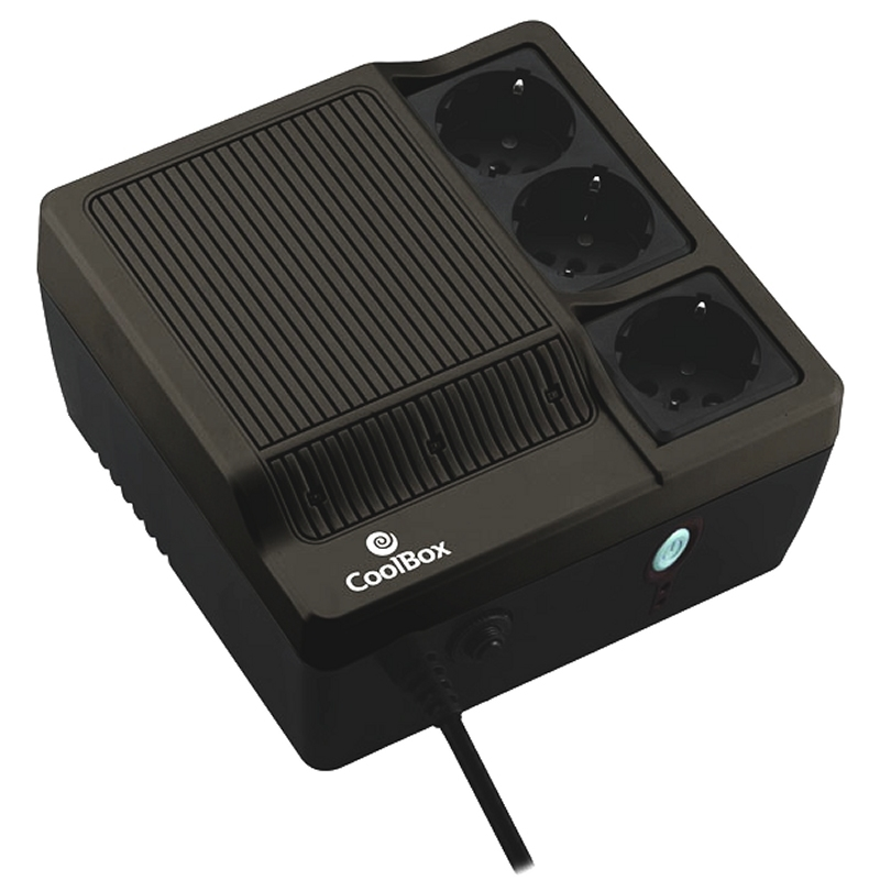 CoolBox SAI Scudo 600 negro (600VA)