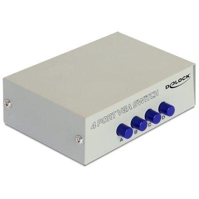 DELOCK Conmutador VGA de 4 Puertos