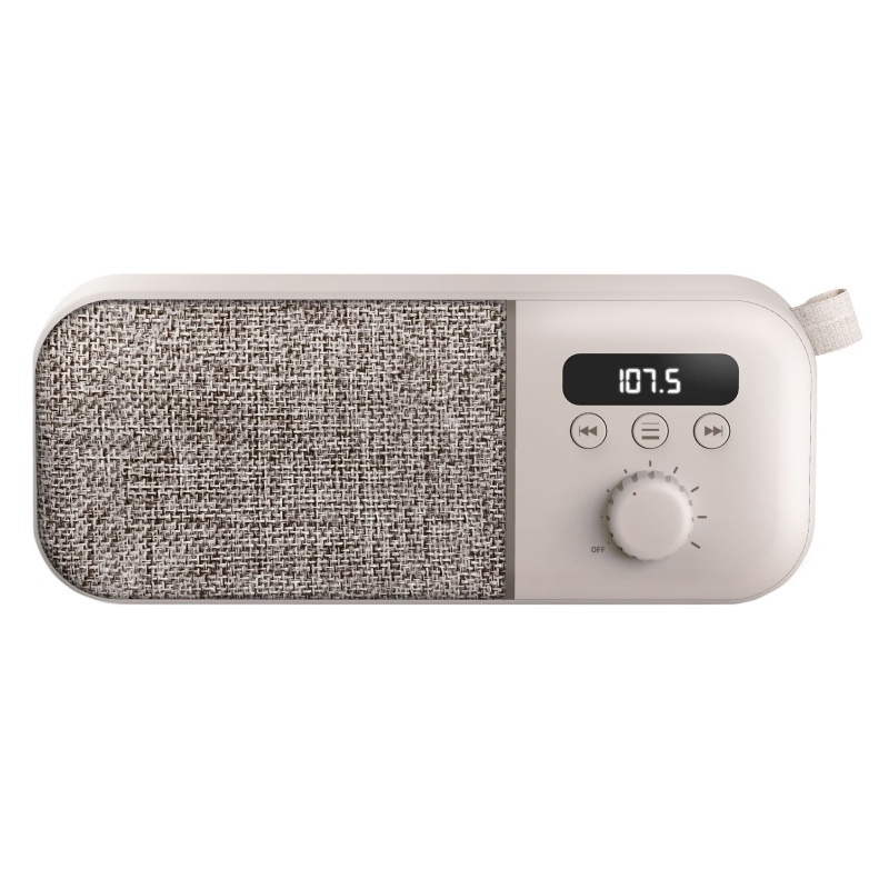 Energy Sistem Fabric Box FM Radio 3W 1200mAh Crema