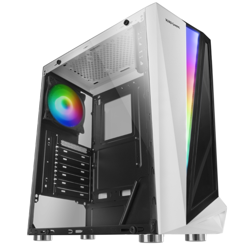 Mars Gaming Caja Atx MCL white dual glass  rgb
