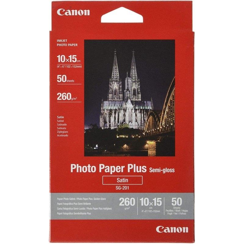 Canon Papel Foto SG-201 10x15cm 50 Hojas Ssatinado