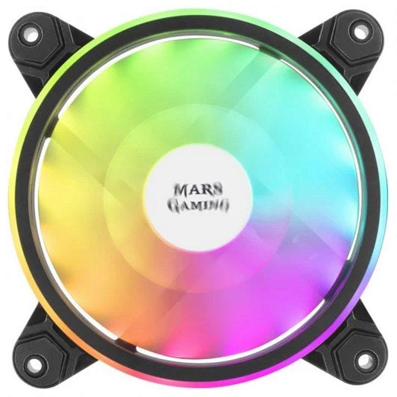Mars Gaming Ventilador MFX DUAL ARGB 14DB BLACK