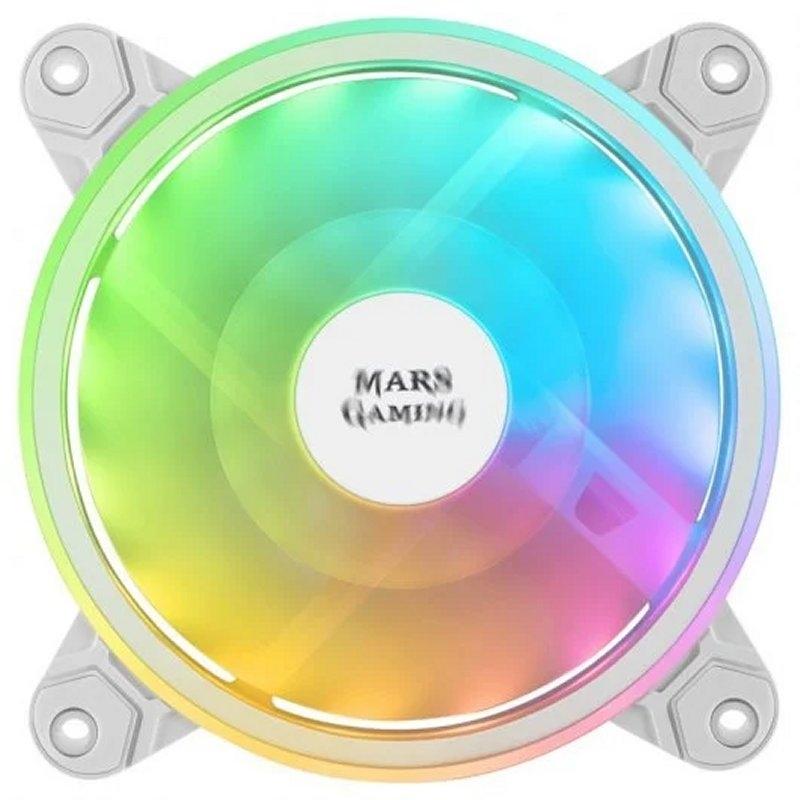 Mars Gaming Ventilador MFX DUAL ARGB 14DB WHITE