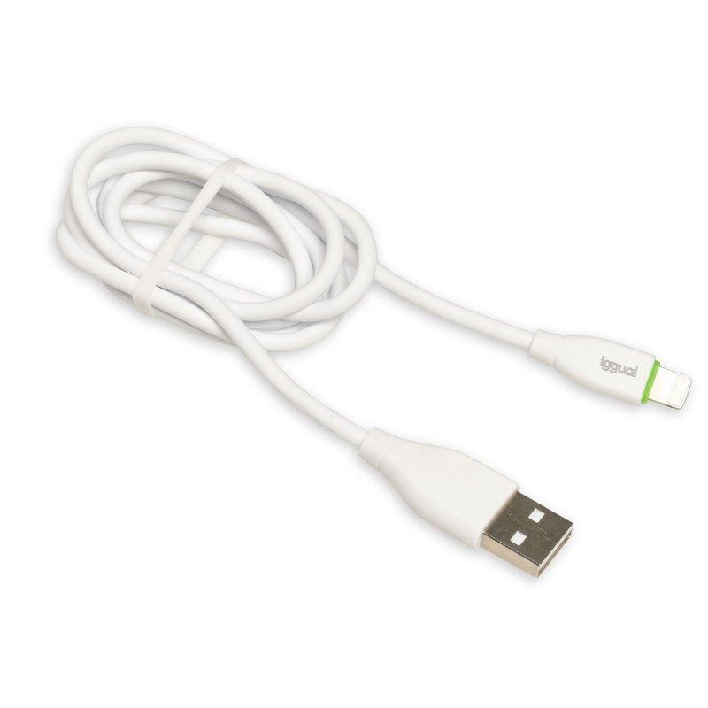 iggual cable USB-A/Lightning 100 cm blanco