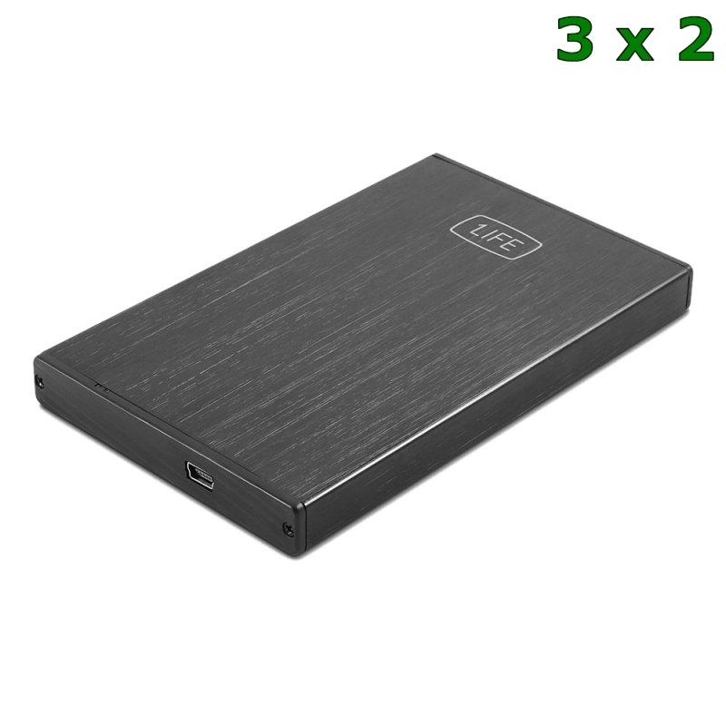 """1LIFE Caja externa 2.5"""""""" HDD/SSD USB 2.0 PROMO3X2"""