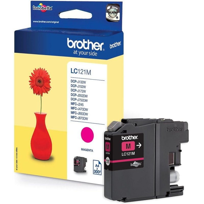 Brother Cartucho LC121MBP Magenta Blister