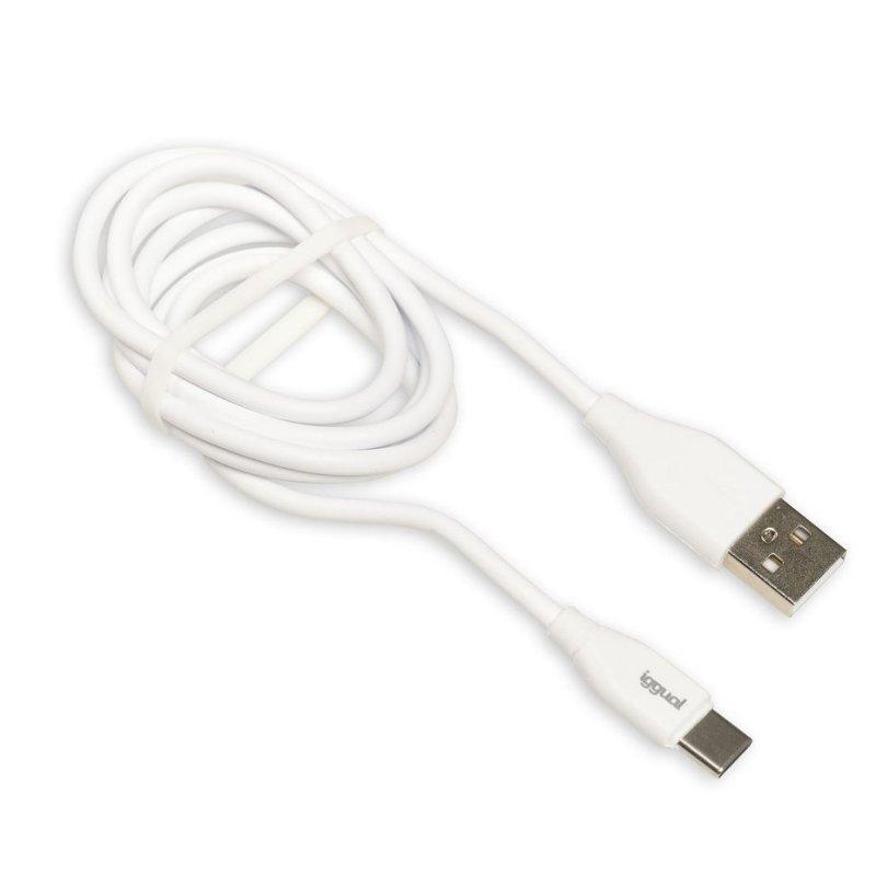 iggual Cable USB-A/USB-C 100 cm blanco Q3.0 3A