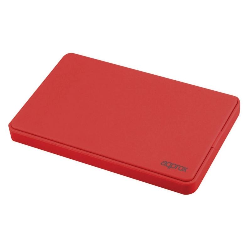 """approx! APPHDD200R caja HDD 2.5"""" SATA 2.0 Rojo"""