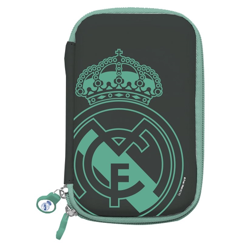 "Real Madrid Funda Disco Duro 2.5"" Negra Escudo"