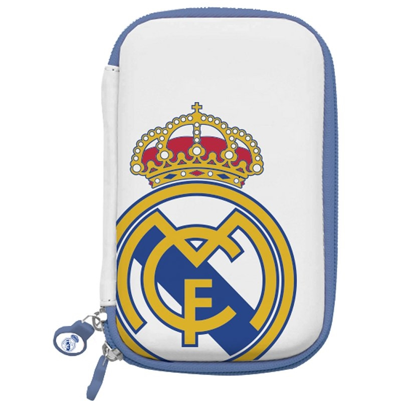 "Real Madrid Funda Disco Duro 3.5"" Blanca Escudo"