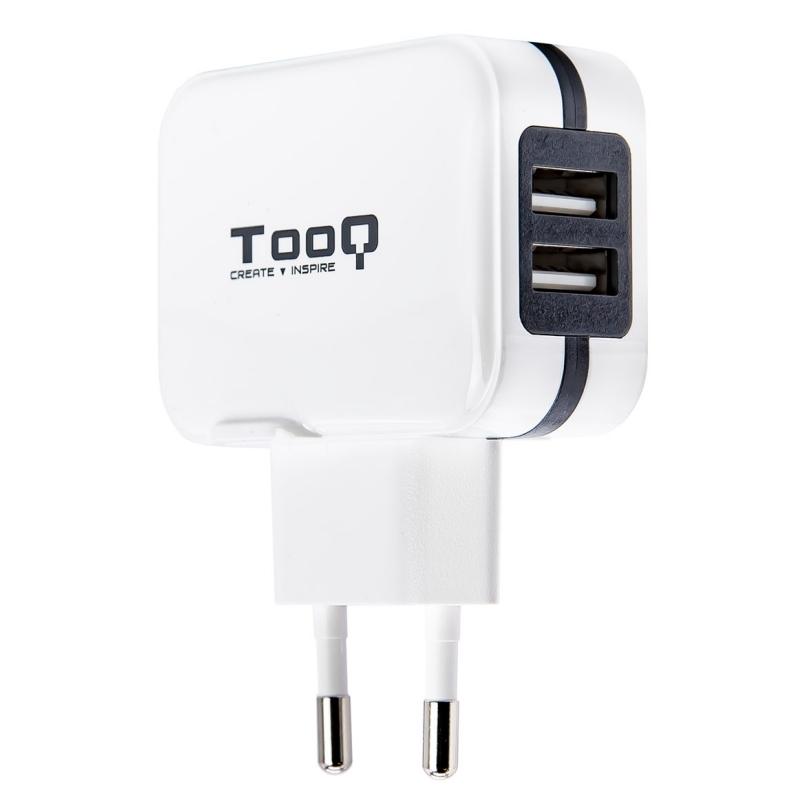 TooQ TQWC-1S02WT Cargador de pared 2 USB Blanco
