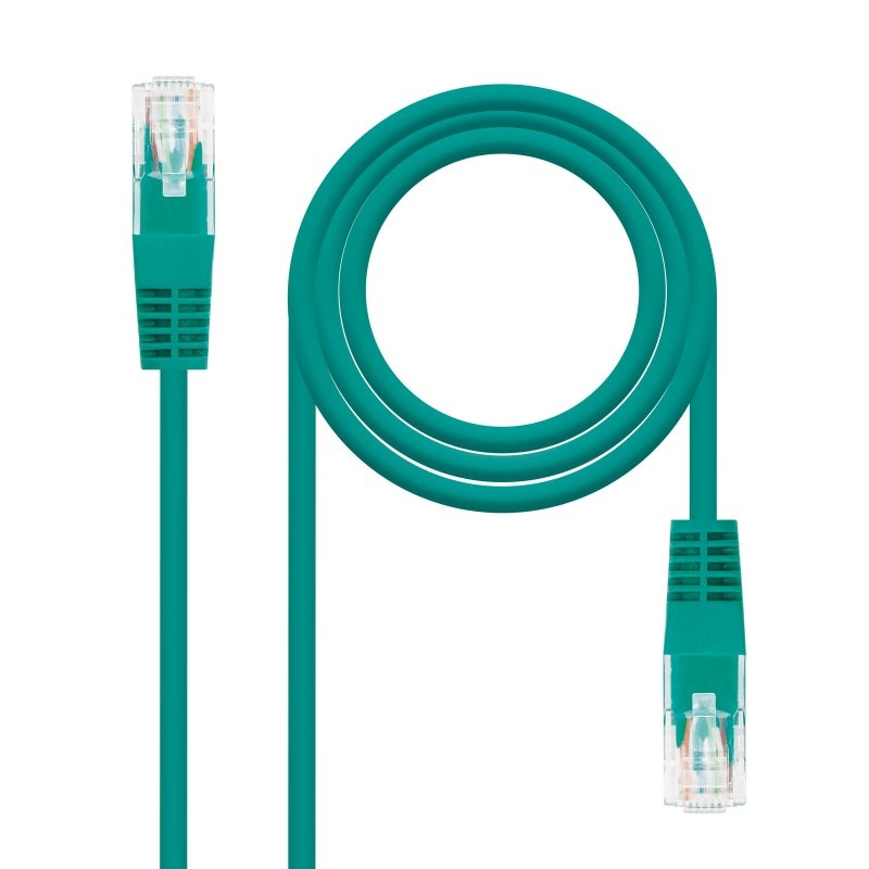 Latiguillo RJ45 Categoria 5E UTP Verde 0,5 Metros