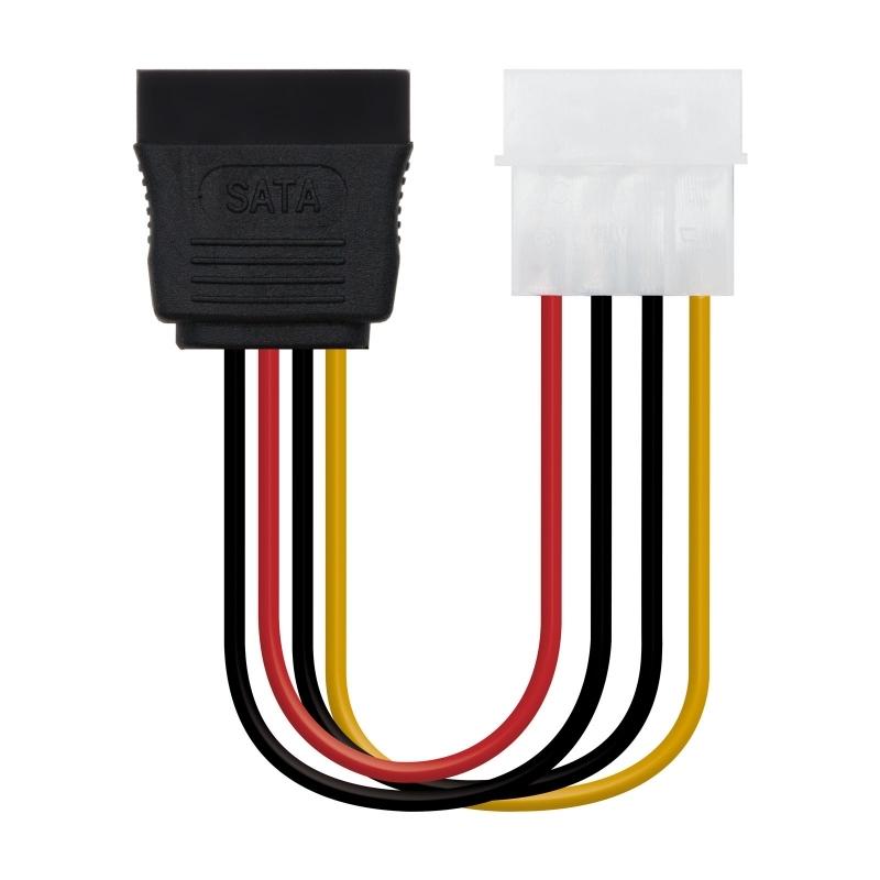Nanocable Cable SATA, Molex M-SATA/H, 16cm