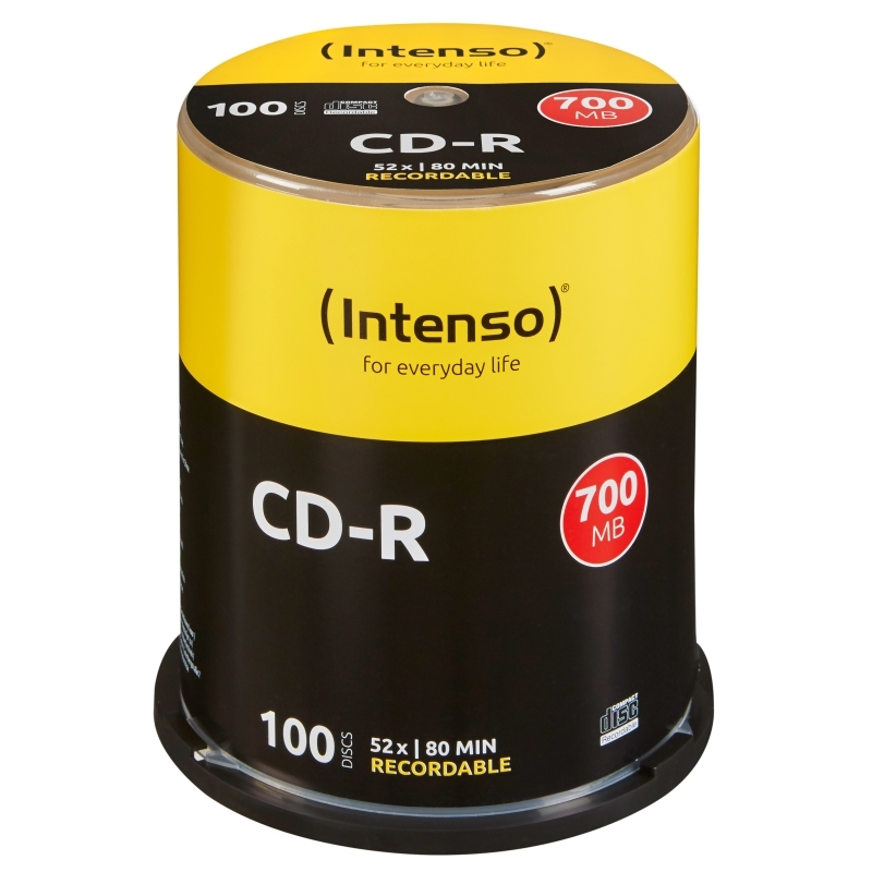 Intenso CD-R 700MB/80min tubo 100 unidades