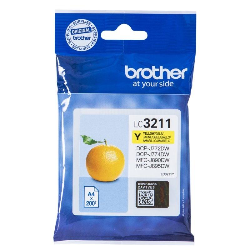 Brother Cartucho LC3211Y Amarillo  Blister