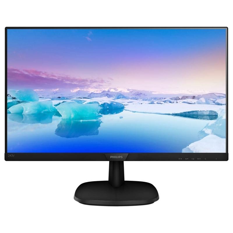 """Philips 243V7QDSB Monitor 24"""" IPS VGA DVI HDMI"""