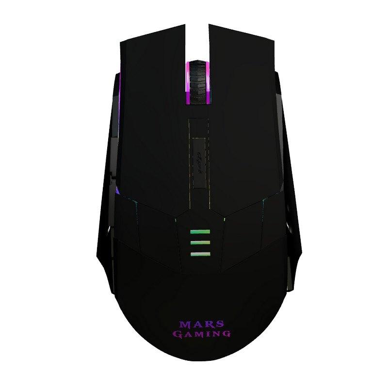 Mars Gaming MM116 Ratón 3200 DPI Negro