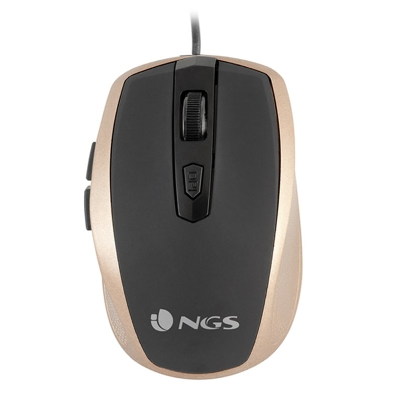 NGS Ratón óptico TickGold USB Dorado