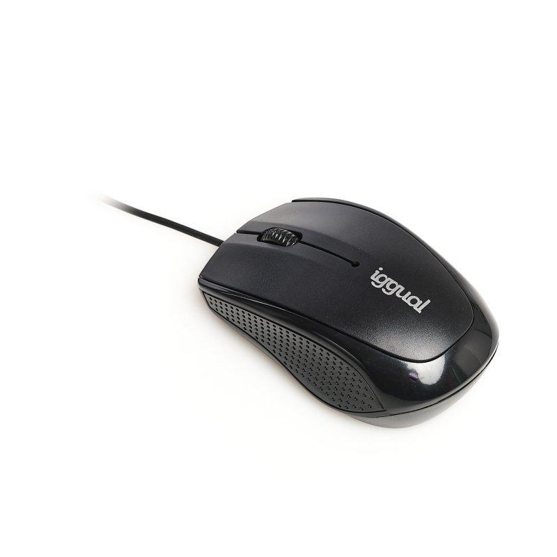 iggual Ratón óptico COM-BASIC-800DPI negro