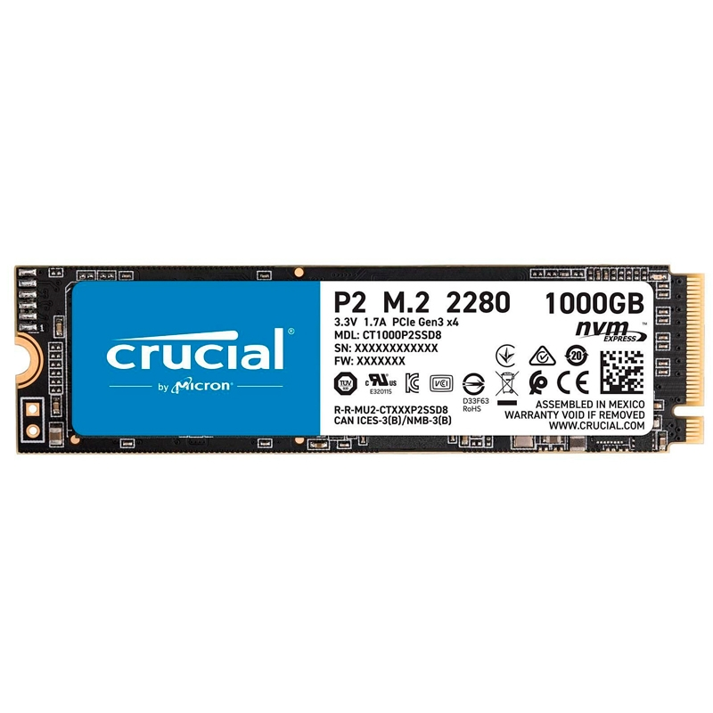 Crucial CT1000P2SSD8 P2 SSD 1000GB M.2  NVMe PCIe