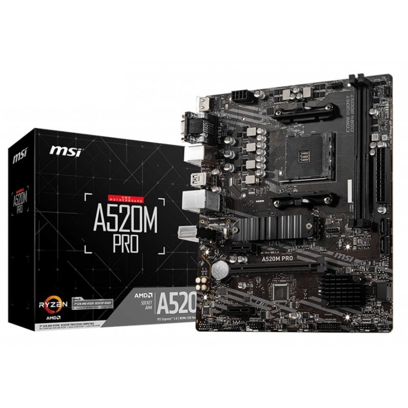 MSI Placa Base A520M PRO mATX AM4