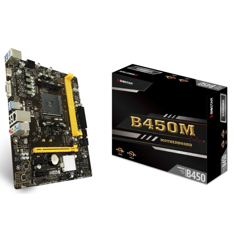 Biostar Placa Base B450MH mATX AM4