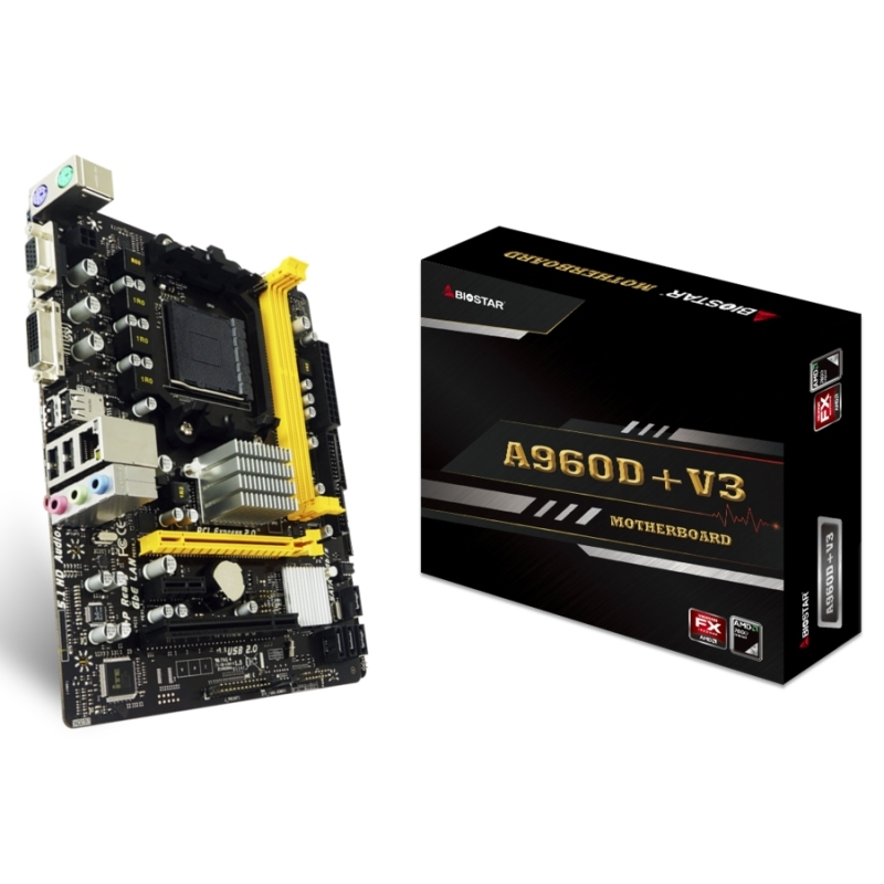 Biostar Placa Base A960D+V3 mATX AM3+