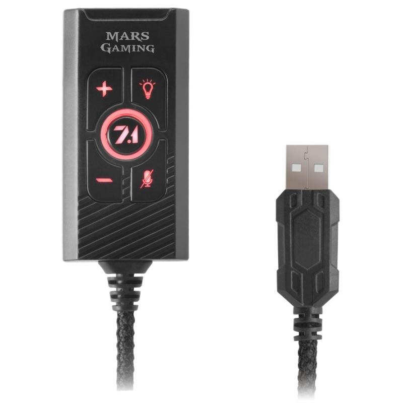 Mars Gaming Tarjeta sonido 7.1 MSC2 USB Multiplat.
