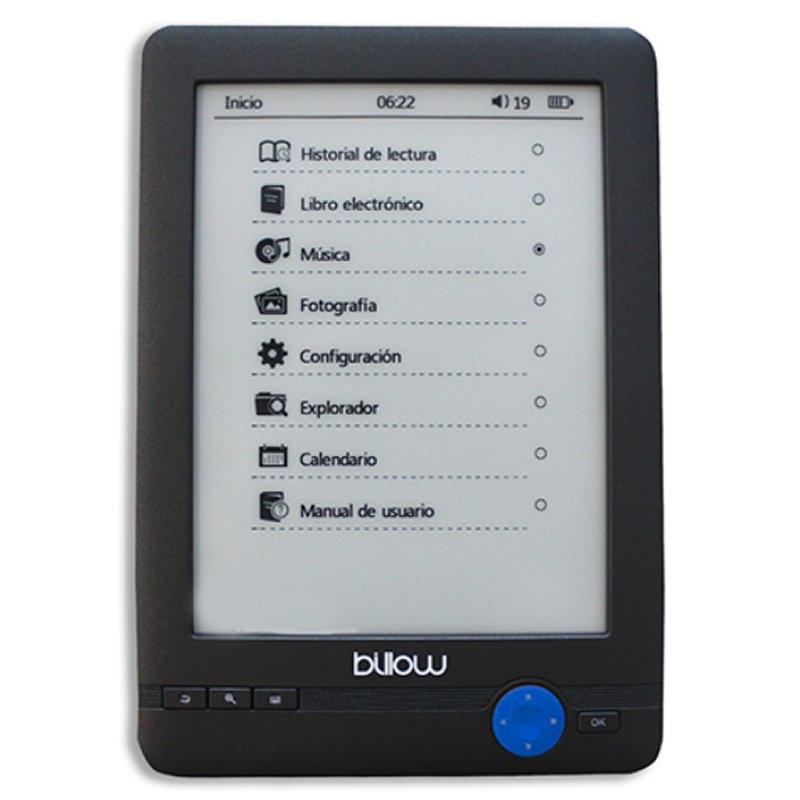 "Billow E03T eBook reader E03T 6"" E-Ink 4GB Táctil"