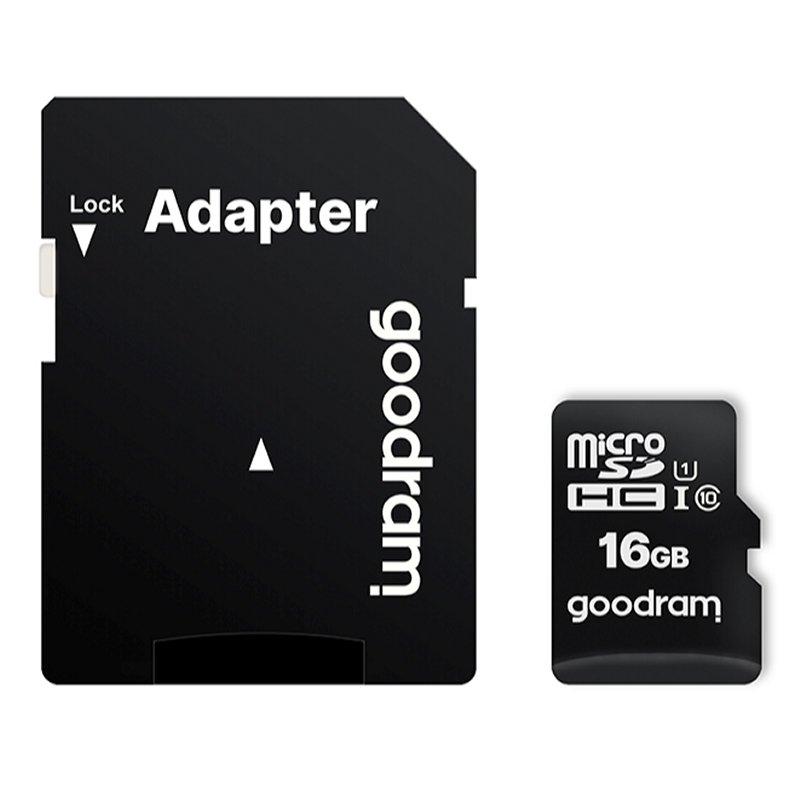 Goodram M1AA Micro SD C10 16GB c/adap